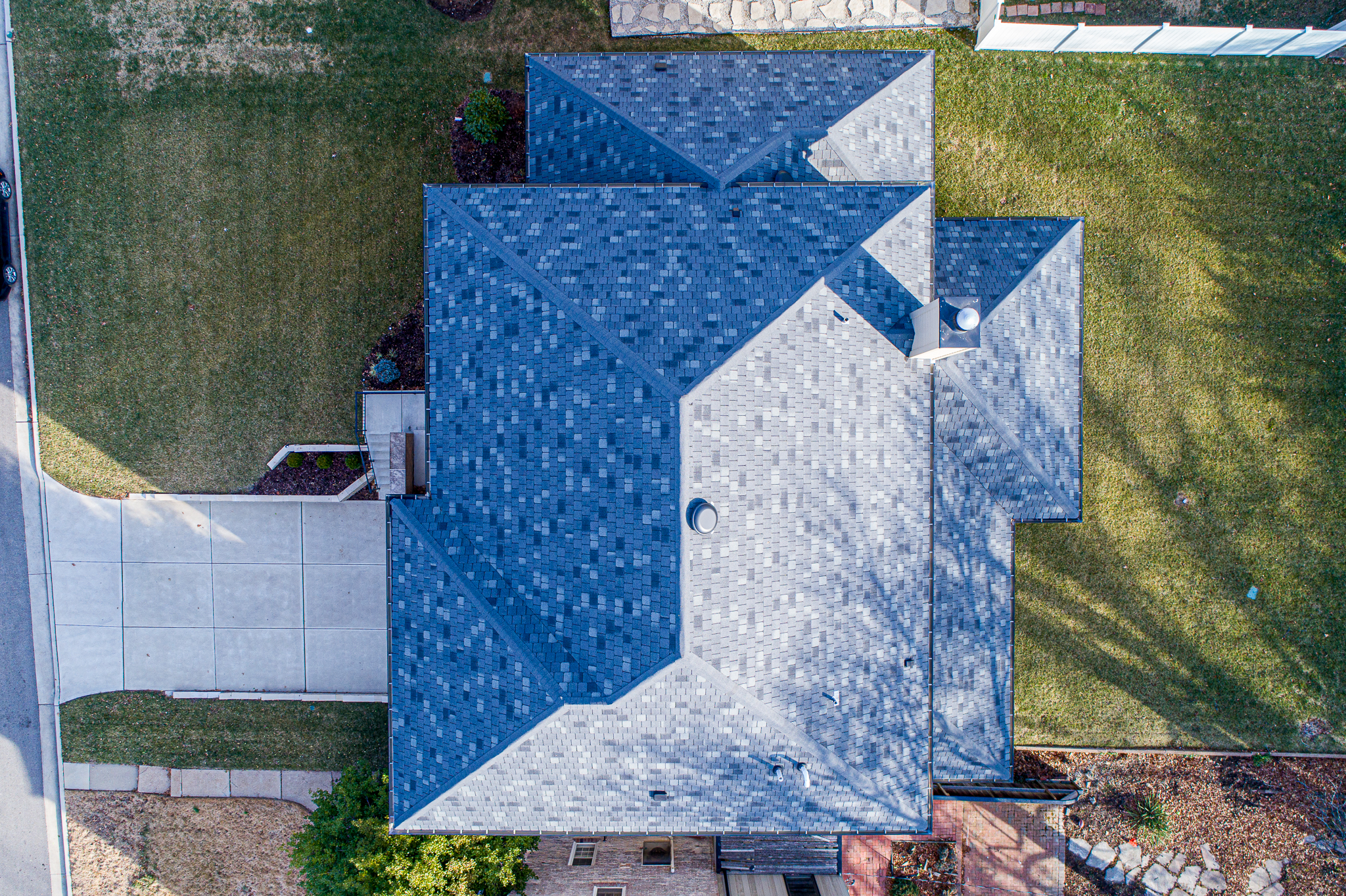A Slate Roof from above