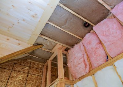 Rolled insulation for a new home.