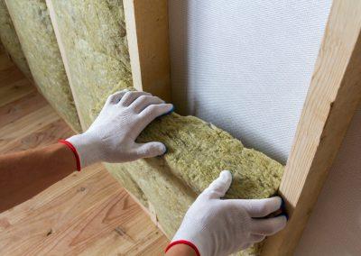 Batt insulation for a new home.