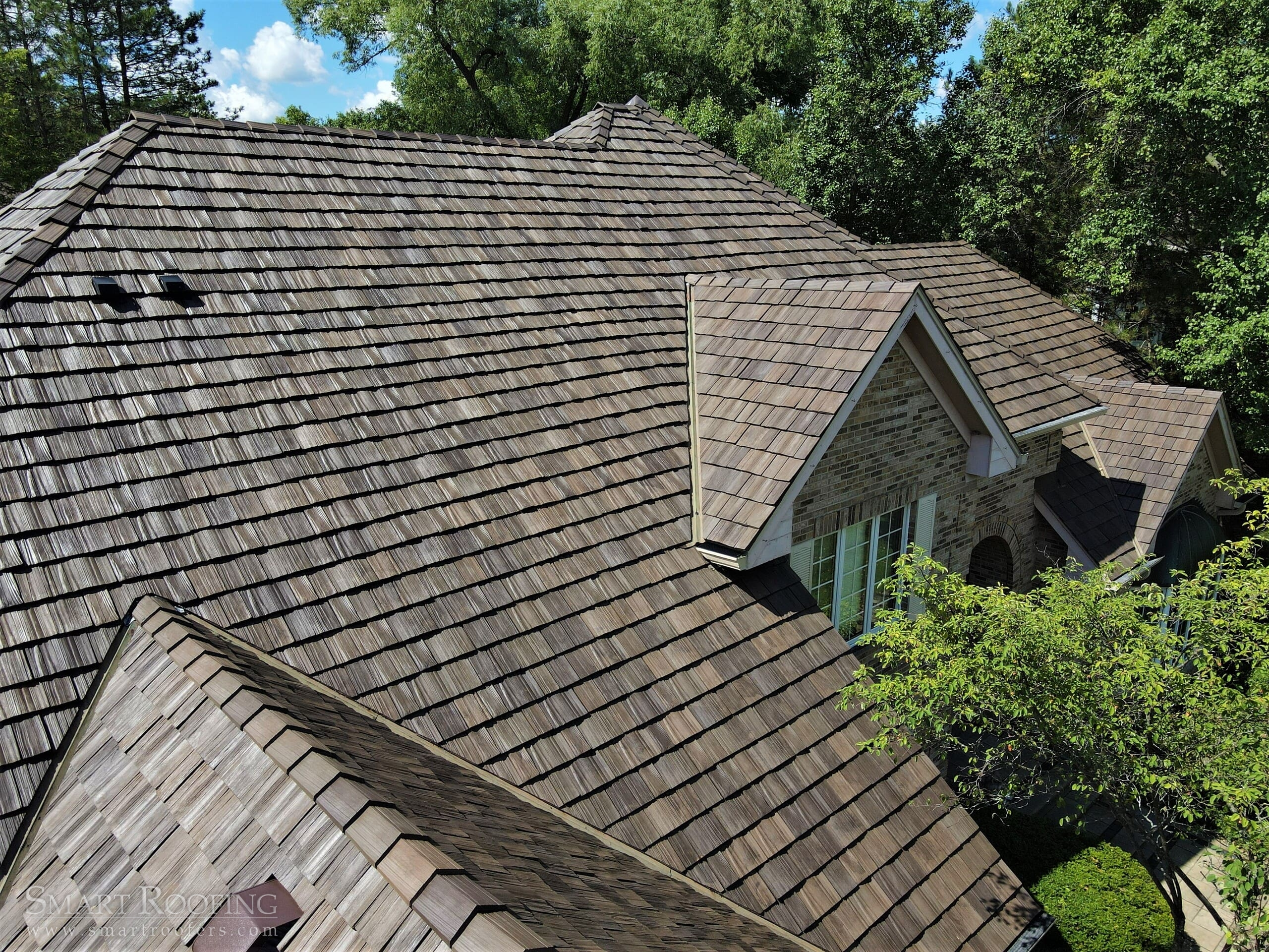 The view of a composite roof.