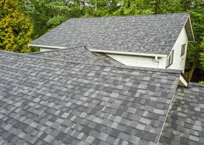 A new composite roof that was just installed on a home in St. Louis.
