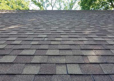 Composite shingle roof.
