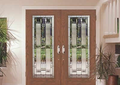Beautiful new double doors for a new home.