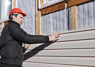 Siding Installation on a home.
