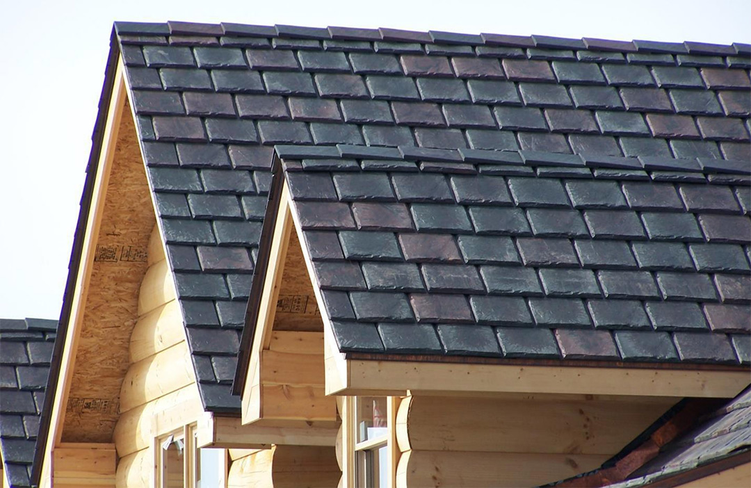 A side of a slate roof in St. Charles, MO