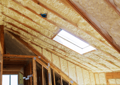 New insulation installed in a new build home.